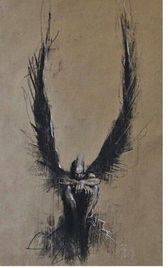 Guy Denning, born in North Somerset, has been obsessed with visual art since childhood and started painting in oils at the age of eleven after receiving a set of old paints from a relative that had grown bored with them. Bild Tattoos, Body Art Tattoos, Art Sketches, Art Drawings, Types Of Painting, Painting Art, Arte Horror, Abstract Painters, Angel Art
