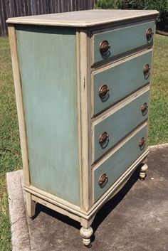 Gorgeous Antique Dresser Custom Chalk by InteriorsDesignedTX