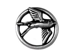 Nicky Epstein Swallow Metal Shank Button 1 inch  25 by ButtonJones, $5.00