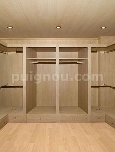 vestidores de madera