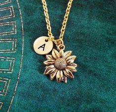 Sunflower Necklace SMALL Sunflower Jewelry Personalized Jewelry Flower Girl  Necklace Sunflower Charm Necklace Flower Necklace Flower 3dff553ed8e90