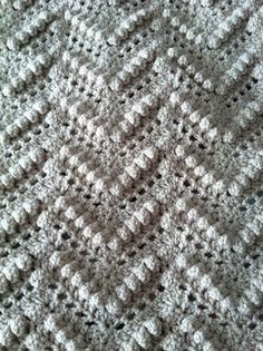 Ravelry: Popcorn Ripple Afghan pattern by Mary Maxim                                                                                                                                                                                 More