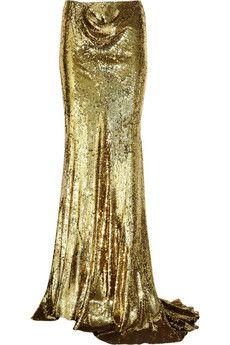 Balmain  Sequined silk maxi skirt