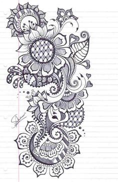 17 Best images about Henna on paper on Pinterest | Henna, Henna patterns  and Mermaids