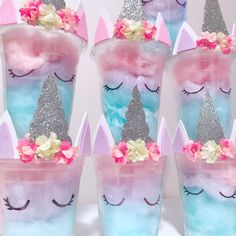 Cotton Candy Unicorn Party Favours.