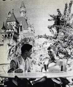 Brandon de Wilde and Carol Lynley at Disneyland, Disney Stuff, Disney Art, Walt Disney World, Disneyland Photos, Vintage Disneyland, Carol Lynley, Star Actress, Alain Delon, Disney Dreams