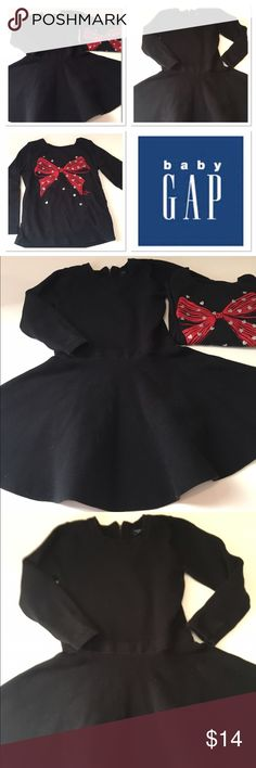 Lot of 2 Baby Gap black clothes Baby Gap black dress and black top with a red bow both size 3 GAP Dresses Casual