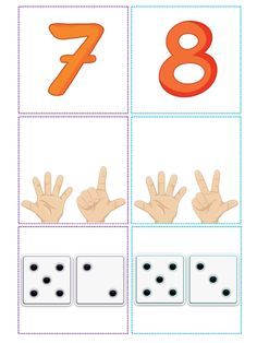 Body Preschool, Numbers Preschool, Learning Numbers, Math Numbers, Preschool Classroom, Kindergarten Math, Teaching Math, Preschool Crafts, Homeschool Preschool Curriculum