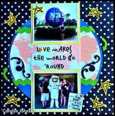 Ramblings of a Winnipeg Mommy: Love Makes The World Go Round Layout - DT Picture This!