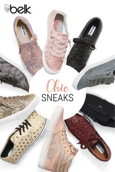 Fashion sneakers are a must-have for your shoe collection. Perfect for work or the weekend, they pair with everything from dresses and skirts to jeans and a tee. From chic gold sneakers and leopard sneakers to a modern pair of black leather sneakers or classic white sneakers for women, there are so many unique fashion sneaker styles. Shop cute sneakers in store and online at Belk.com.