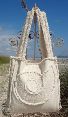 Sea Beach Bag - Nautilus Ivory on Ivory