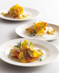 Golden Beet and Jicama Salad with Creme Fraiche