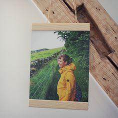 DIY Posteraufhänger aus Holz
