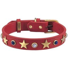 American Red Leather Dog Collar – Bark Label