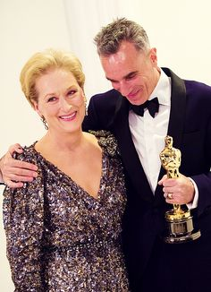 Meryl Streep and Daniel Day-Lewis at the 85th Academy Awards.