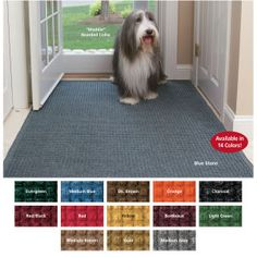 Water Guard Mats: Stop water, snow and dirt in their tracks. Super-strong polypropylene water trapper mats protect your floor with a unique combination of thick fibers that whisk mud from paws or soles of shoes and thin fibers that remove moisture. Dirty dog doormat has side channels that allow water to drain quickly. Nonskid rubber back. Easy care just hose off to clean.