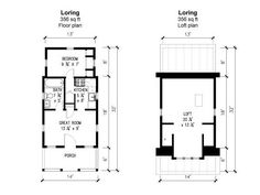 Loring Plans | Tumbleweed Tiny House Company (A floor plan for a tiny house!) :-)
