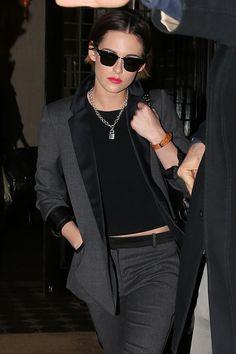 Found It! The Luxe Chain Necklace Kristen Stewart Wears Everywhere via @WhoWhatWear
