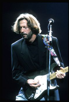 Eric Clapton doing what he does best