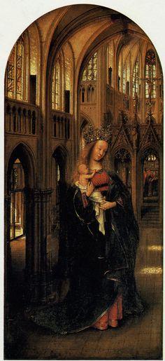 """""""Madonna in the Church"""" by Jan Van Eyck (1425). Gemaldegalerie, Berlin"""