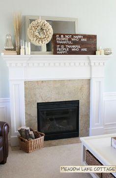 Love this - Book Wreath + Handmade sign - perfect mantel!!