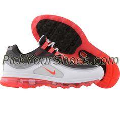 Nike Womens Air Max 24-7 (black / solar red / dark shadow / white) 397292-004 - $129.99