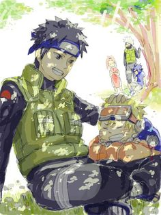 obito and naruto playing