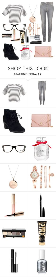 """""""Untitled #149"""" by fadedlipstick on Polyvore featuring Clarks, Tory Burch, Ray-Ban, Victoria's Secret, Kate Spade, Anne Klein, By Terry, Marc Jacobs, Bobbi Brown Cosmetics and Chanel"""