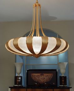 Etonnant Impressive Chandelier Of 1,5 Mts. Of Diameter, Made In Gold Plated Bronze  And Venetian Glass Panel Leaves, Mariner Luxury Furniture U0026 Lighting.