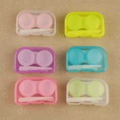Transparent Portable Mini Contact Lens Case Storage Box Holder Container RS Ll Led Balloons, Mirror Box, Travel Kits, Transparent, Portable, Container, How To Apply, Contact Lens, Safety