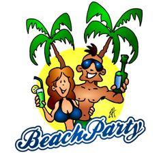 Beach party full color print. #illustration #customprint #POD #CardvibesCatalog #Cardvibes