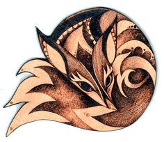 Fox Wall Hanging Pyrography wood wallhanging by GlenoutherCrafts