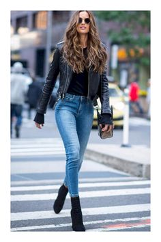 These sock boots are perfect fall boots! black jacket jeans black boots These sock boots are perfect fall boots! Mode Outfits, Winter Outfits, Casual Outfits, Fashion Outfits, Womens Fashion, Fashion Models, Fashion Trends, Jeans Fashion, Fashion Boots