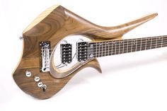 """Isabelle - Satin Oil Finish, Walnut and Ash sandwich body, 25.5"""" scale length, Floating Magnetic Cycfi Pickups"""