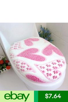 Victorian Crochet Toilet Seat Cover Set Love Vanilla
