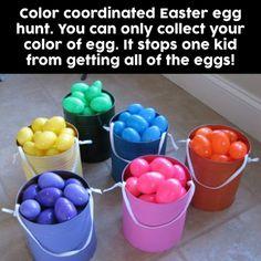 Color Coordinated Easter Egg Hunt!