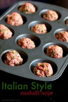 PinkWhen.com: A delicious Italian Style Meatballs recipe that is perfect for spaghetti and meatball subs!