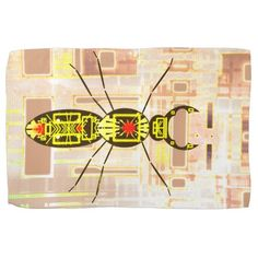 kithen towel with a grunge style insect