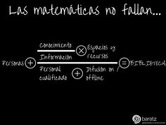 Las matemáticas no fallan... = #Bibliotecas