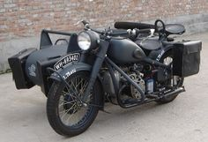 Saddle bags on the front of the sidecar...