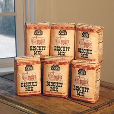 Receive a box of six 2 lb bags of our famous Biscuit Mix. Also available in individual 2 lb bags.