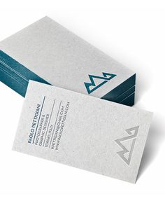 Personal business cards by Paolo Pettigiani - printed on natural paper with a nice letterpress effect.