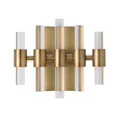 Highlight favorite artwork with an Arteriors Home Haskell 49057 Sconce Light on either side to create a bold, modern look. This chic sconce light. Indoor Wall Sconces, Bathroom Sconces, Candle Wall Sconces, Outdoor Wall Sconce, Wall Sconce Lighting, Wall Lamps, Bathroom Ideas, Wireless Wall Sconce, Luxury Chandelier