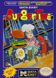 BurgerTime Nintendo NES cover artwork