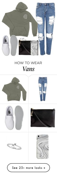 """""""Untitled #301"""" by findthefinerthings on Polyvore featuring Topshop, Vans and Recover"""
