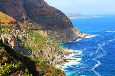 Things to do in Cape Town Chapmans Peak See Chapman's Peak on Hout Bay Harley Davidson, Stuff To Do, Things To Do, Cape Town South Africa, Table Mountain, Beauty Bay, Vacation Destinations, Travel Inspiration, Travel Photography