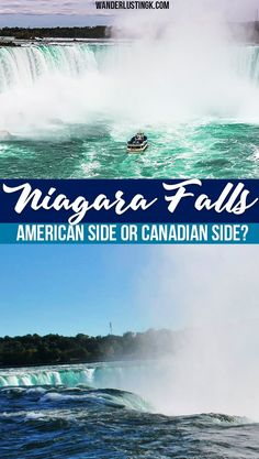 Your ultimate guide to Niagara Falls by a resident on which side of Niagara Falls is better, what to do in Niagara Falls, and what to eat in Niagara Falls. Includes tips on how to get to Niagara Falls Ontario and Niagara Falls New York from the airport. Canada Travel, Travel Usa, Canada Trip, Niagara Falls Vacation, Visiting Niagara Falls, Niagara Falls Ontario, Fall Vacations, Autumn In New York, Travel Inspiration