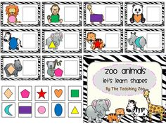 Learn Shapes with a Zoo Animals Theme!