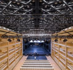 Gdansk Shakespeare Theatre Theater Architecture, Shakespeare Theatre, Backstage, Spaces