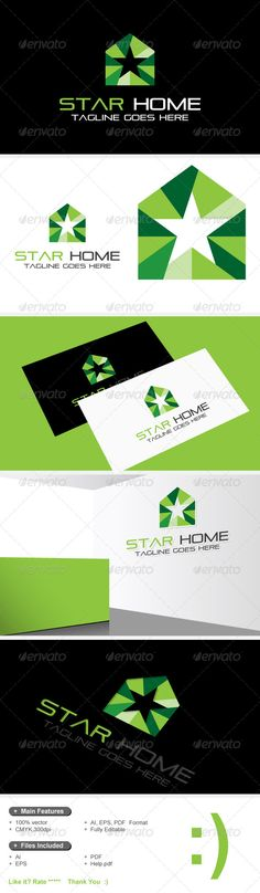 Star Home & House Design Logo by logosmile An excellent logo template suitable for home,house,builder,building,construction,room,interior,indoor,live,architecture,structure,